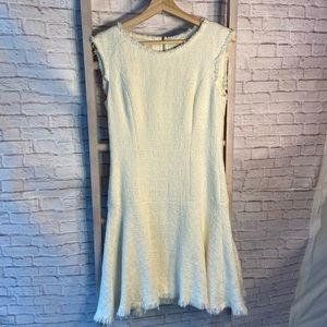 Rebecca Taylor Cream Flutter Dress